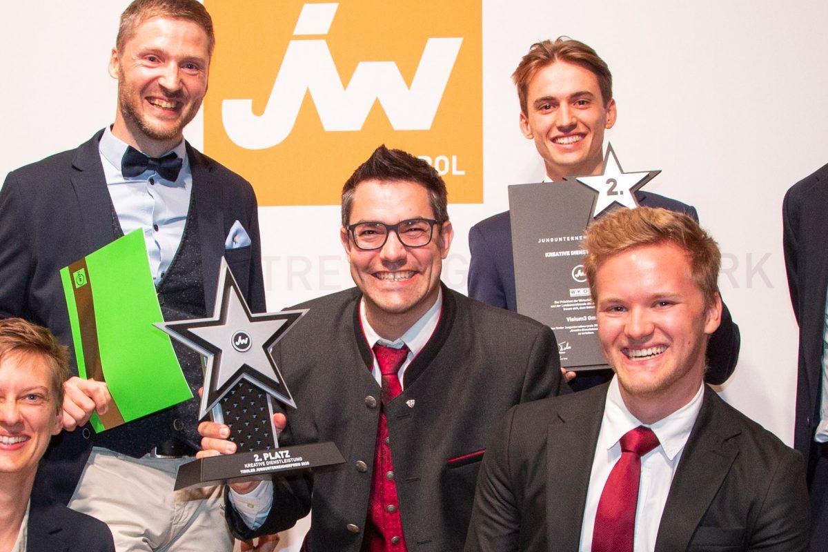 Visium3 GmbH erreicht den 2. Platz beim Tiroler Jungunternehmerpreis 2020